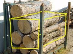 Der Stapel-Raummeter Brennholz